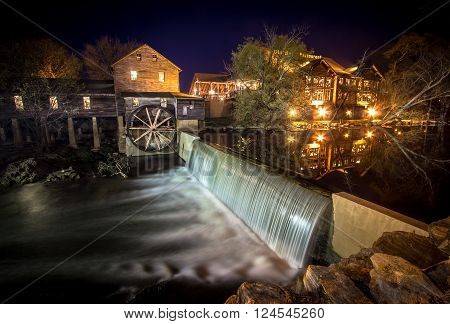 Pigeon Forge, Tennessee, USA. March 26, 2016-   The Old Mill in Pigeon Forge, Tennessee has been in operation since 1830. It remains in operation and is currently a restaurant and popular tourist site.