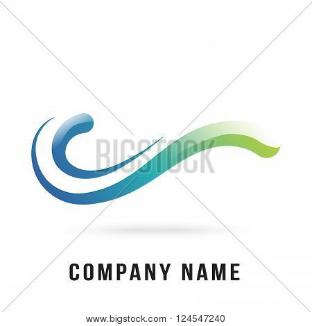 curve logo design draw by illustrator use nice gradient on it body can re sizes up to your target useful for some curve or wave design