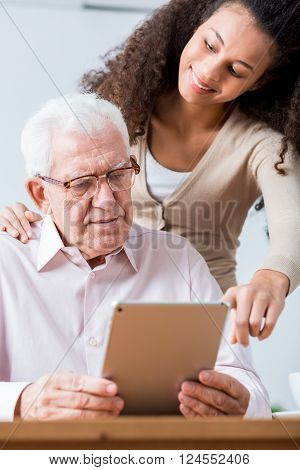 Senior Man And New Technology