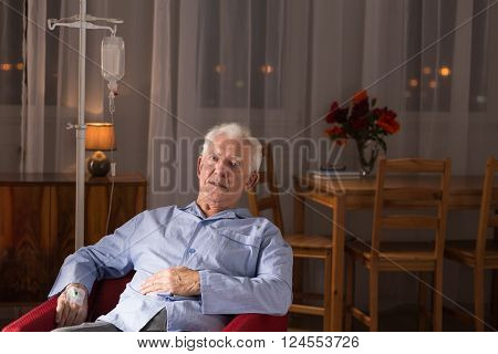 Man During Home Treatment