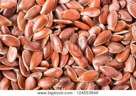 flax seeds background macro photo close up.