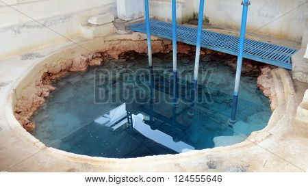 A man-made Japanese fresh water well is the only and  perennial source of drinking water for the entire island, Car Nicobar, Andaman and Nicobar Islands, India, Asia.