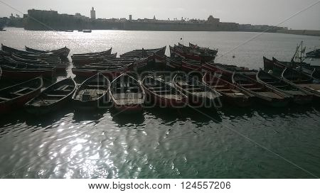 boats in a very very hot day in summer .