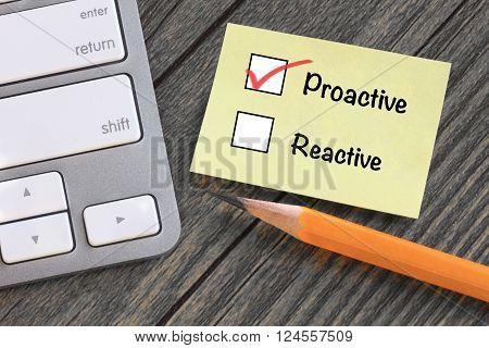 proactive versus reactive response, concept of motivation