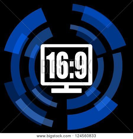 16 9 display black background simple web icon