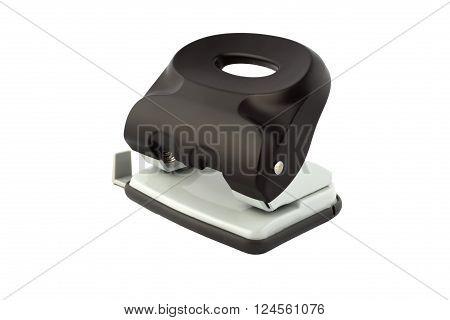 Black hole puncher isolated on white background