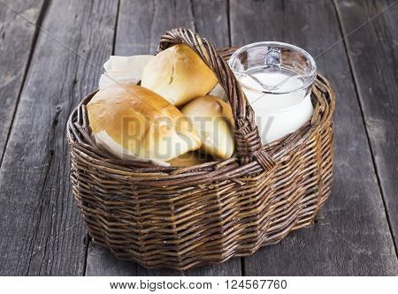 Russians Traditional Pastries - Pies On A Dark Wooden Background