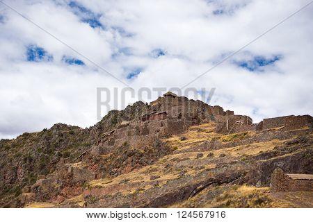 Inca Ruins And Buildings In Pisac, Sacred Valley, Peru