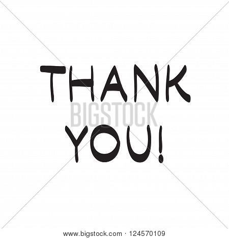 Thank You Hand Drawn Vector Scribble Icon Symbol