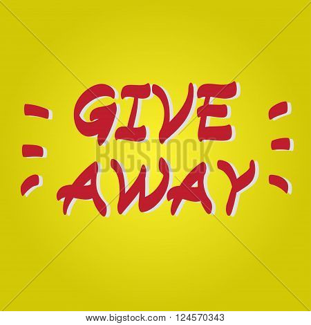 Giveaway Hand Drawn Vector Icon