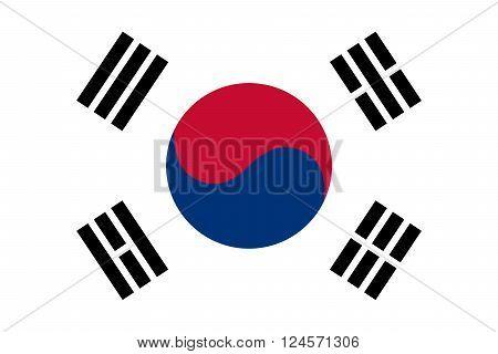 South Korea Flag ( Republic of South Korea )