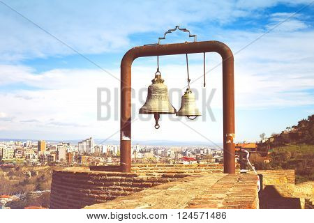 Two Bells In Narikala Fortress - Ancient Place In Tbilisi, Capital Of Georgia