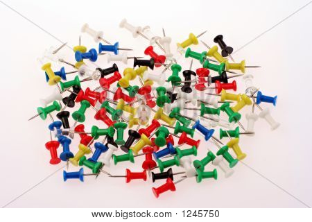 A Group Of Pins