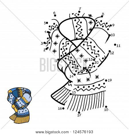 Numbers Game, Dot To Dot, Scarf With Winter Ornament