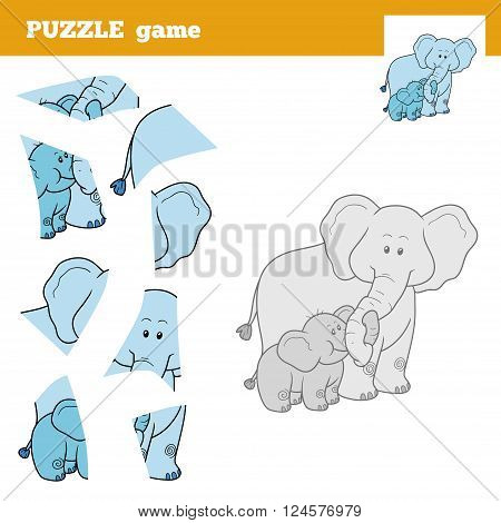 Puzzle Game For Children, Elephant