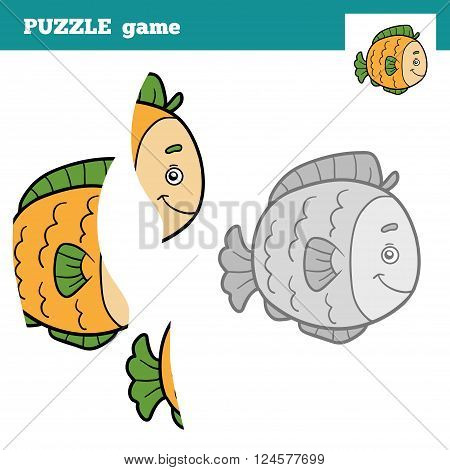 Puzzle Game For Children, Fish