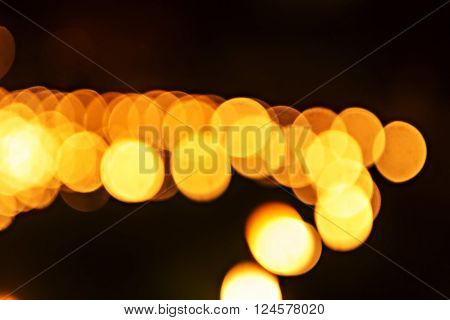 Abstract Defocused Candle Light