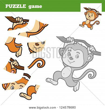 Puzzle Game For Children, Monkey