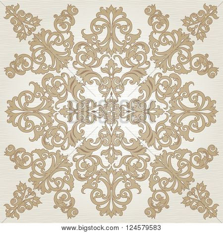 Vector Baroque Ornament In Victorian Style.