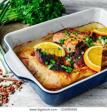 Baked Chicken With Orange