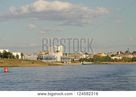 Omsk, Russia - June 21, 2010: River Irtysh In Omsk, Russia