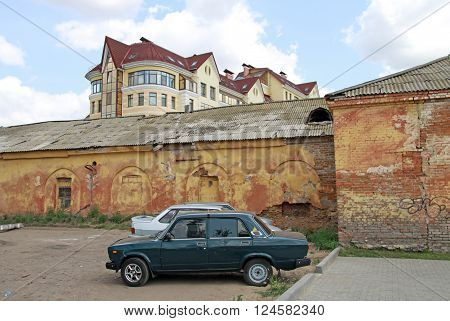 Omsk, Russia - July 02, 2010: Architectural And Historical  Complex Of Omsk Fortress, View Of Old Ba