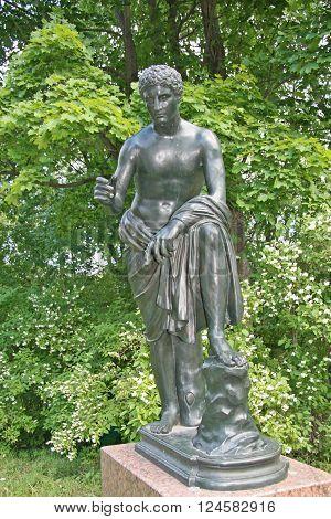 St. Petersburg, Tsarskoye Selo, Russia - June 26, 2008: The Catherine Park Sculpture