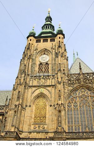 Prague, Czech Republic - April 23, 2013: St. Vitus Cathedral In Prague, Czech Republic