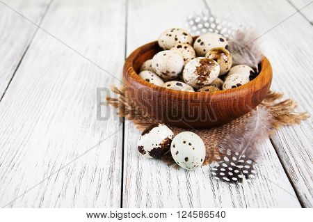 Bowl With Fresh Quail Eggs