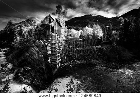Crystal Mill Colorado Black and White Photography Famous USA Landscapes