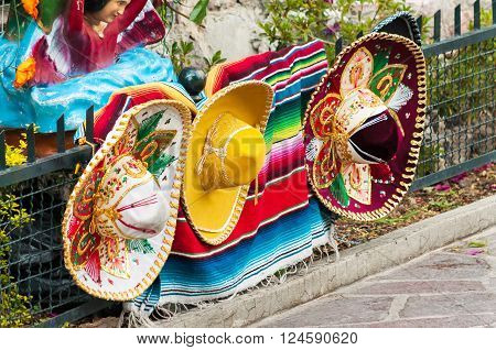 Row Of Mexican Sombreros