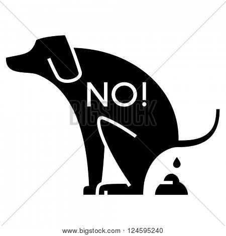 no dog pooping cutout sign