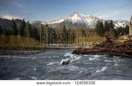 Whitehorse Mountain North Cascade Mountains Darrington WA Sauk River