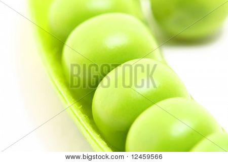 peas isoladed on white