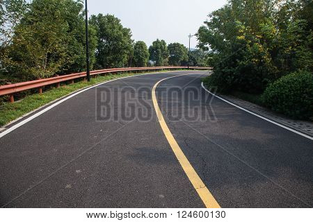 Beautiful Sun Rising Sky With Asphalt Highways Road