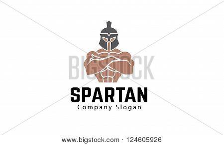 Spartan Creative And Symbolic Logo Design Illustration