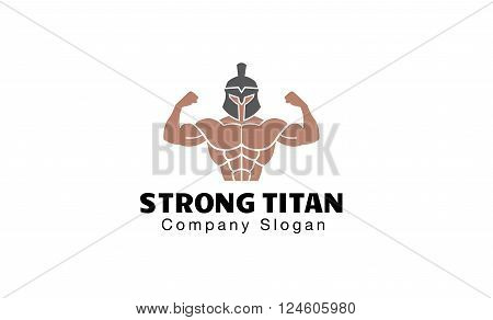 Strong Titan Creative And Symbolic Logo Design Illustration