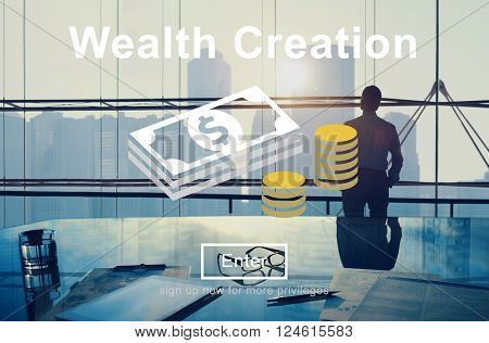 Wealth Creation Affluence Investment Concept