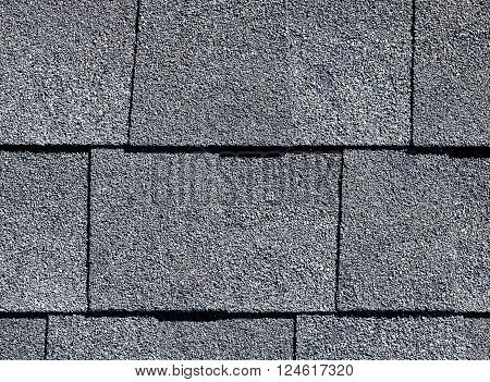 Roofing Shingles Slate Gray Tab Style Pattern