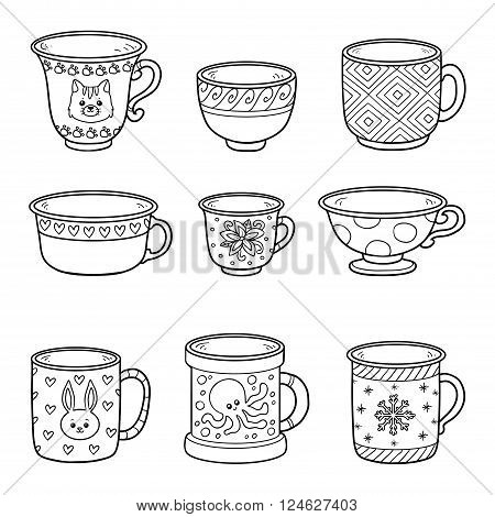 Vector Set With Different Empty Cups