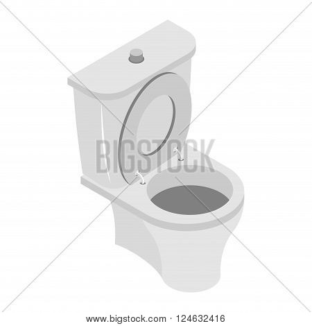 Toilet Bowl On White Background. Ws Accessories Isolated