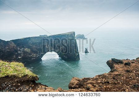 Cape Dyrholaey In Southern Iceland