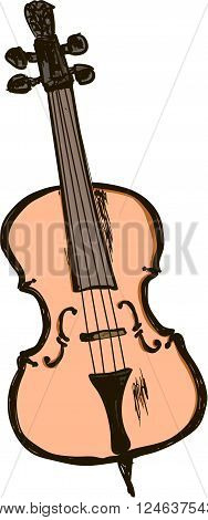 a viola on the white ,musical instrument