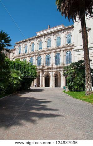 The Galleria Nazionale d'Arte Antica. Rome Italy.