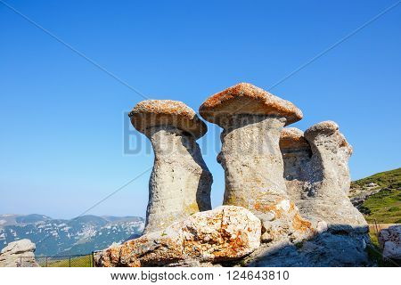 Babele - Geomorphologic rocky structures in Bucegi Mountains Romania