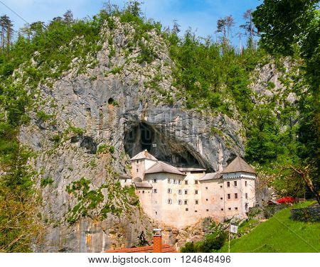 Walls and fortification of Predjama castle in Slovenia