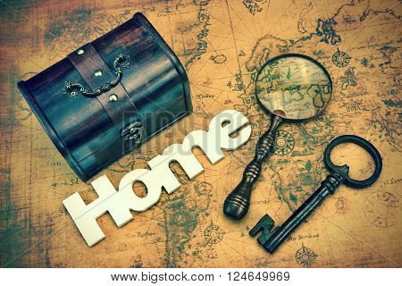 Home Search Or Emigration Concept