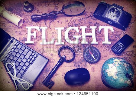 Sign Flight, Laptop, Key, Globe, Compass, Phone, Camera, Letter, Magnifier