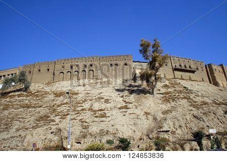 Ancient Arbil Castle in Kurdistan, north Iraq.