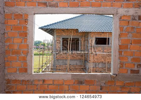 window structure in residential building construction house